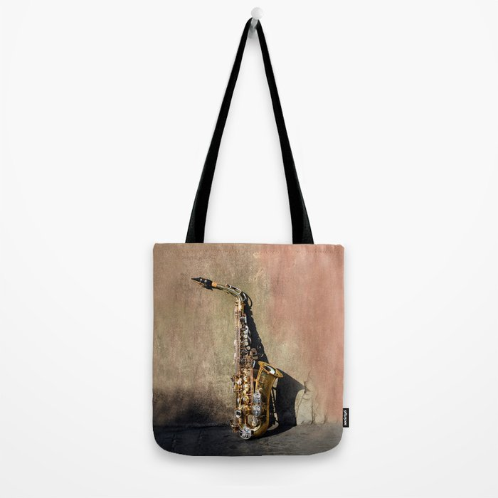 New Orleans French Quarter Saxophone Tote Bag