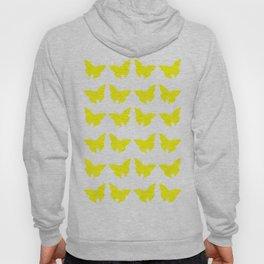 Yellow Bold Mod Butterflies Hoody