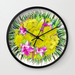 FlowerBall Wall Clock