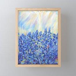 Lavender after the rain, flowers Framed Mini Art Print