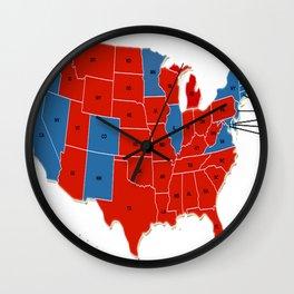 Donald Trump 45th US President - USA Map Election 2016 Wall Clock