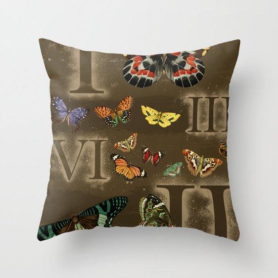 Let's Count Butterflies Throw Pillow