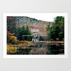 Seek & Find  Art Print
