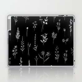 Black wildflowers Laptop & iPad Skin