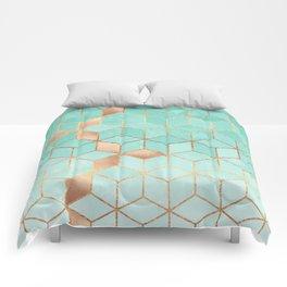 Soft Gradient Aquamarine Comforters