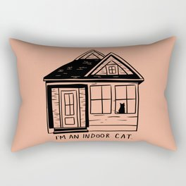 Indoor Cat (house) Rectangular Pillow