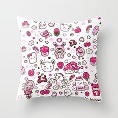 Kawaii Friends Throw Pillow