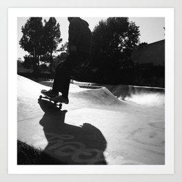 Skater at Derby Art Print