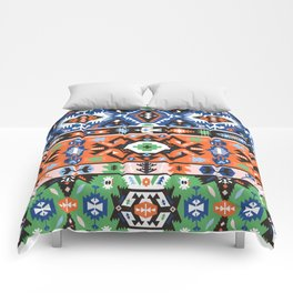 Tribal chic seamless colorful patterns Comforters