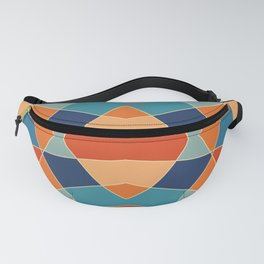 Retro Colored Abstract Butterfly Fanny Pack