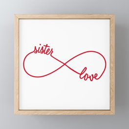 Sister love, infinity sign Framed Mini Art Print