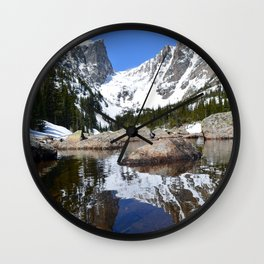 Dream Lake Reflections Wall Clock