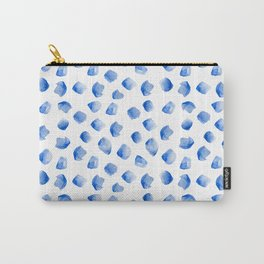 watercolor blue dots Carry-All Pouch
