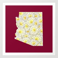 Arizona in Flowers Art Print