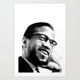 Malcolm Smile by Joaquín Esteban J. Art Print