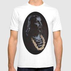 My Jesus Chain MEDIUM White Mens Fitted Tee
