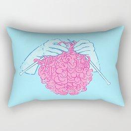 Knitting a brain Rectangular Pillow