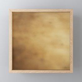 Modern elegant abstract faux gold gradient Framed Mini Art Print
