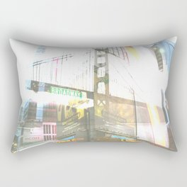 SF to NY Rectangular Pillow