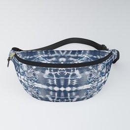 Blue Tie-Dye Spiral Stripe Fanny Pack