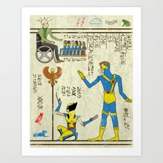hero-glyphics: X Art Print