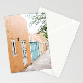 Caribbean street art print I photography print I soft pastel colors I Curacao I Pietermaai I Pastel colors I Wall art print Stationery Cards