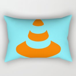 traffic  road cone safety pylon Whitc hat marker Rectangular Pillow