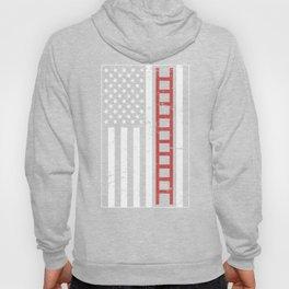 United States Flag & Firefighter Ladder Hoody