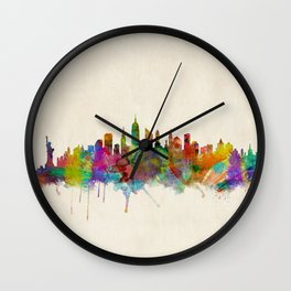 New York City Skyline Wall Clock