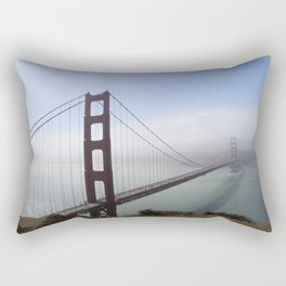 Golden Gate Bridge On A Foggy Morning Rectangular Pillow