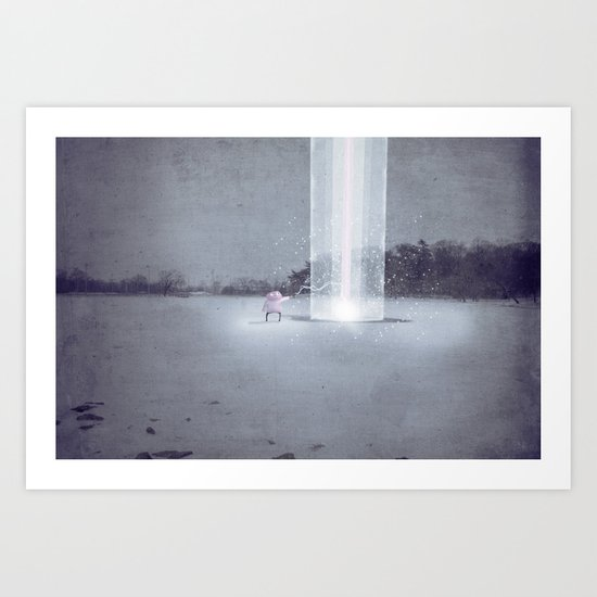 i didn't know i could do this.  Art Print