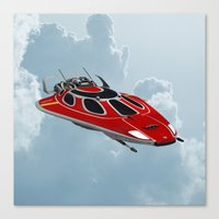 spaceship Canvas Prints featuring Spaceship by Design Windmill