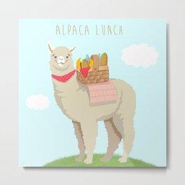 Alpaca Lunch Metal Print