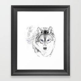 WOLF WHITE Framed Art Print