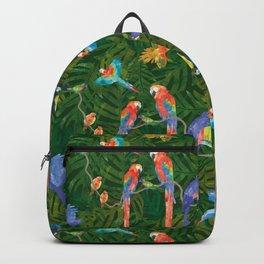 Rainforest Birds: Dark Green Backpack