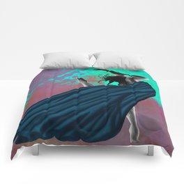 Flying Woman Comforters