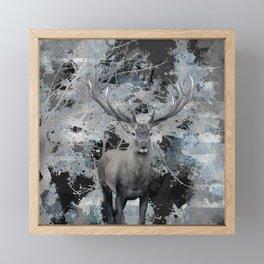 Abstract Digital Art Composition Deer Framed Mini Art Print