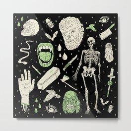 Whole Lotta Horror: BLK ed. Metal Print