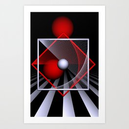 games with geometry -18- Art Print