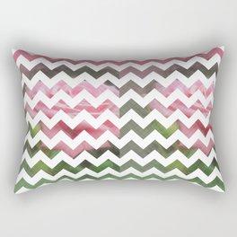 Pink Roses in Anzures 3 Chevron 3T Rectangular Pillow