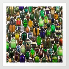 Beetle Mania Art Print