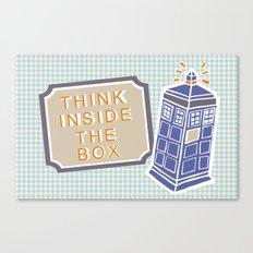 think inside the box Canvas Print