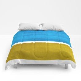 Colorful Bright Minimalist Rothko Olive Green Jewel Blue Midcentury Modern Art Vintage Pop Art Comforters