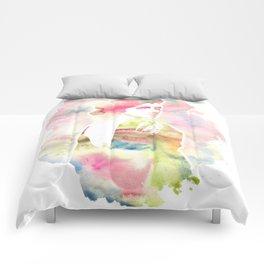 Emma Watson Watercolor Comforters