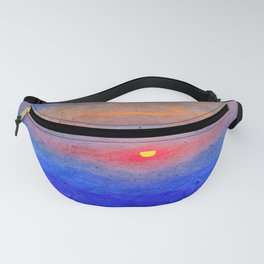 Paper-textured Sunset Fanny Pack