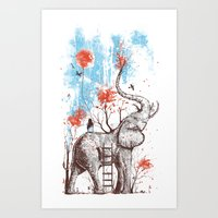 minimal Art Prints featuring A Happy Place by Norman Duenas