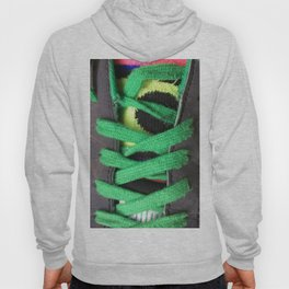 Green shoe laces Hoody