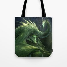 Green Crystal Dragon Tote Bag