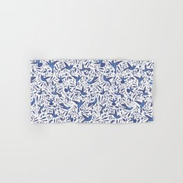 Delft Blue Humming Birds & Leaves Pattern Hand & Bath Towel