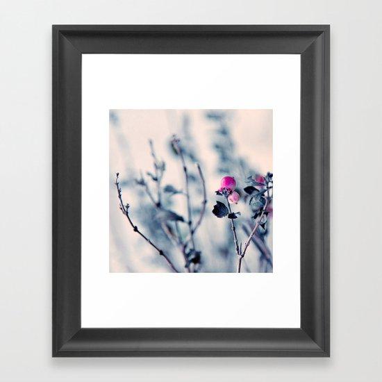 pink berry Framed Art Print